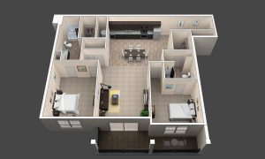 Cypress is a two-bedroom apartment in Westerville, Ohio