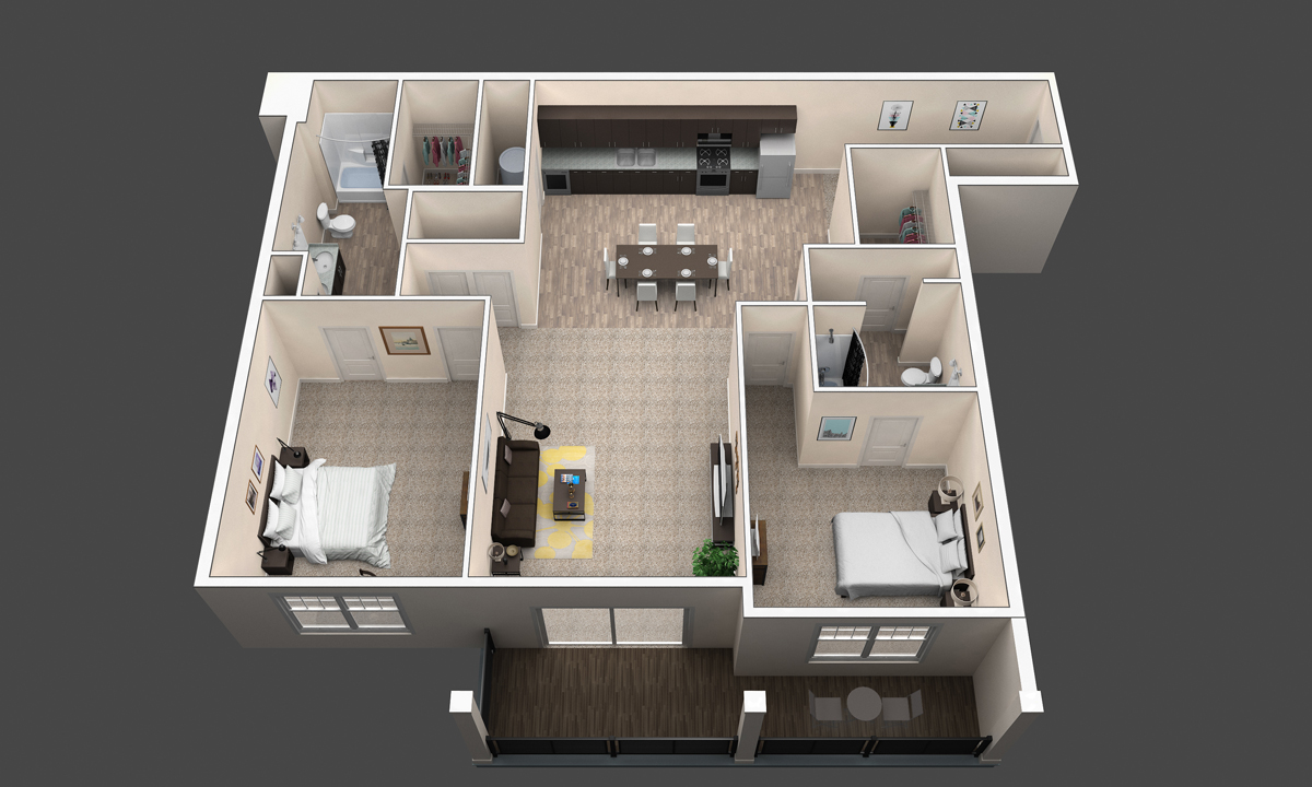 The Cypress floor plan